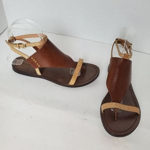 Sigerson Morrison Brown Thong Leather Sandals